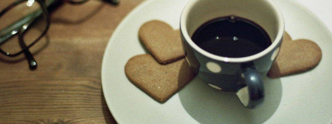 Coffee Heart Cookies Glasses